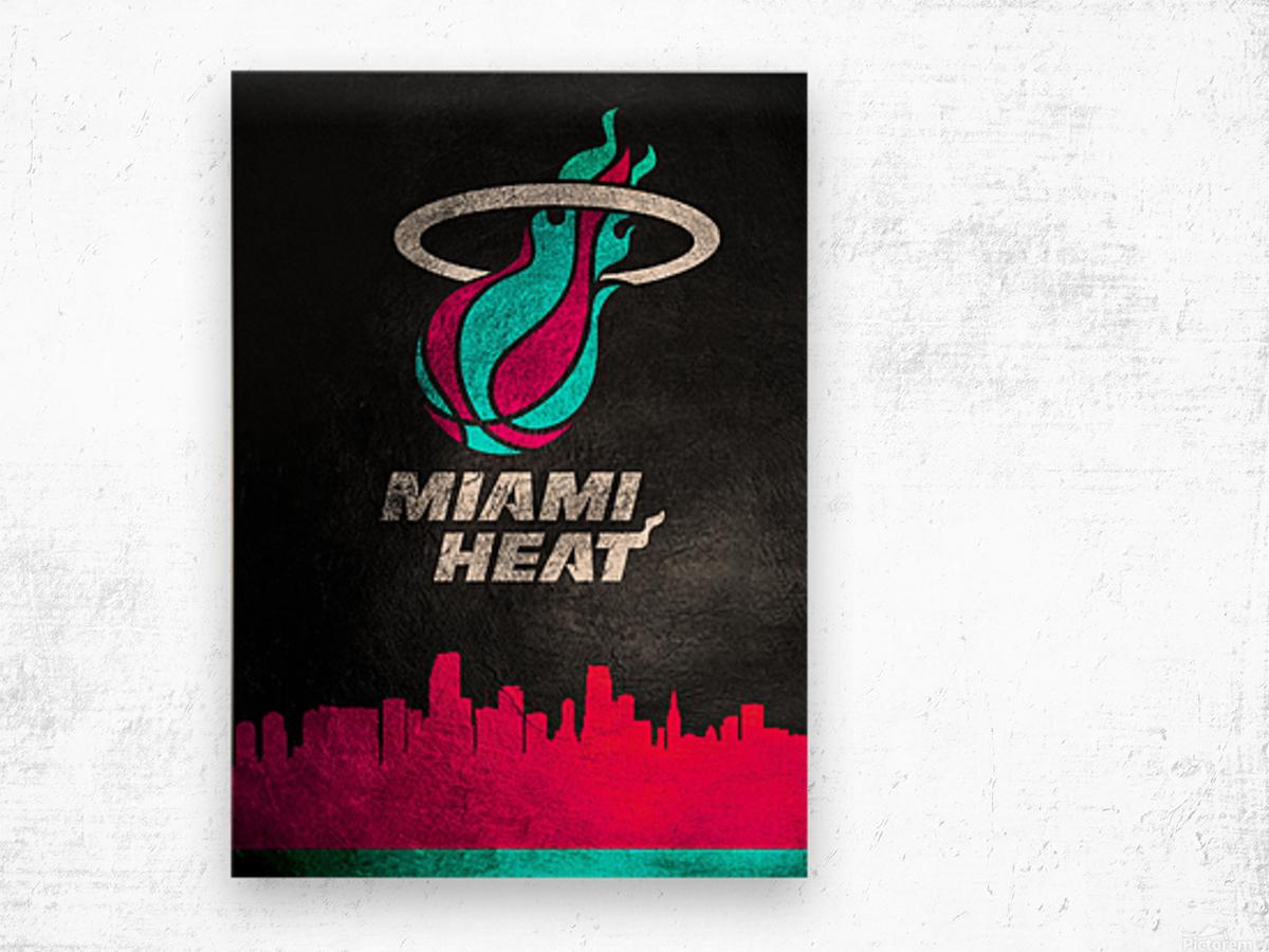 Miami Heat Vice 2 Wood print