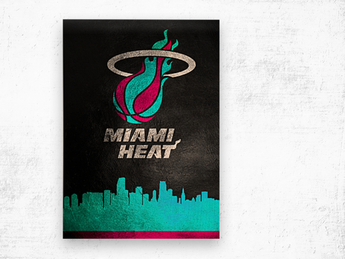 Miami Heat Vice Wood print