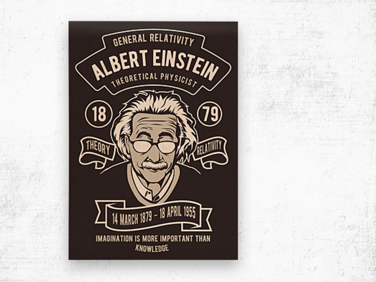 Albert einstein poster Wood print