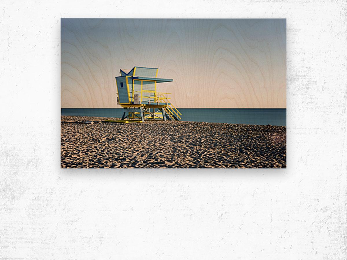 Miami Beach 075 Wood print