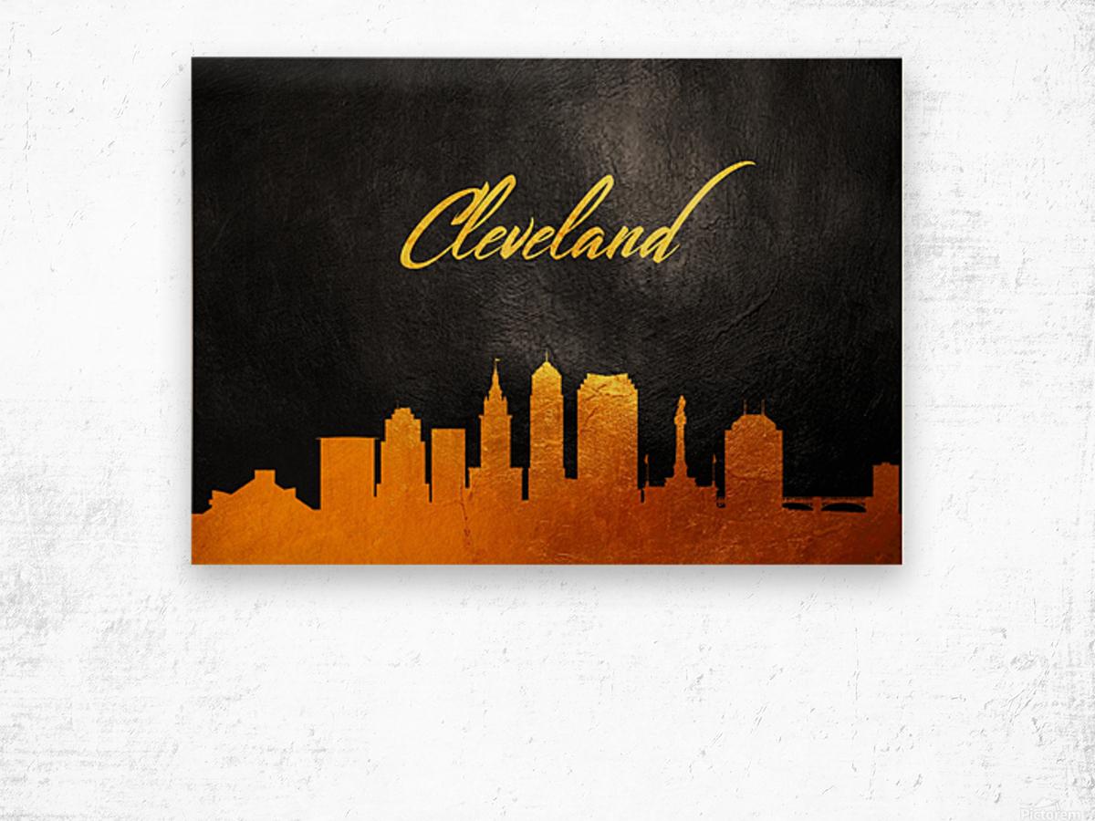 Cleveland Ohio Skyline Wall Art Wood print