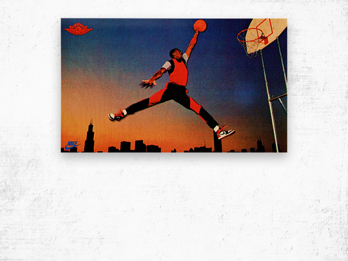 1985 Nike Promo Jordan Rookie Card Wall Art Wood print
