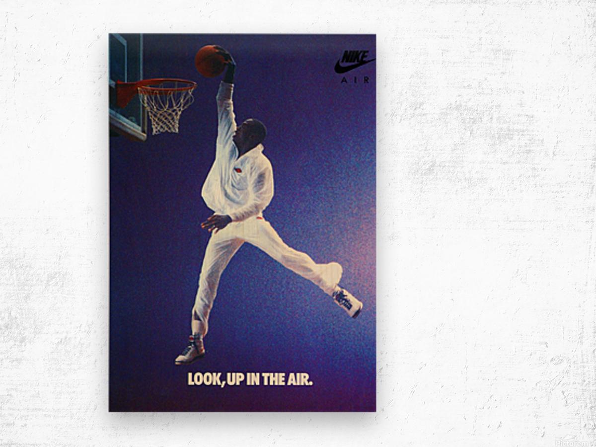 1987 Michael Jordan Nike Ad Wood print