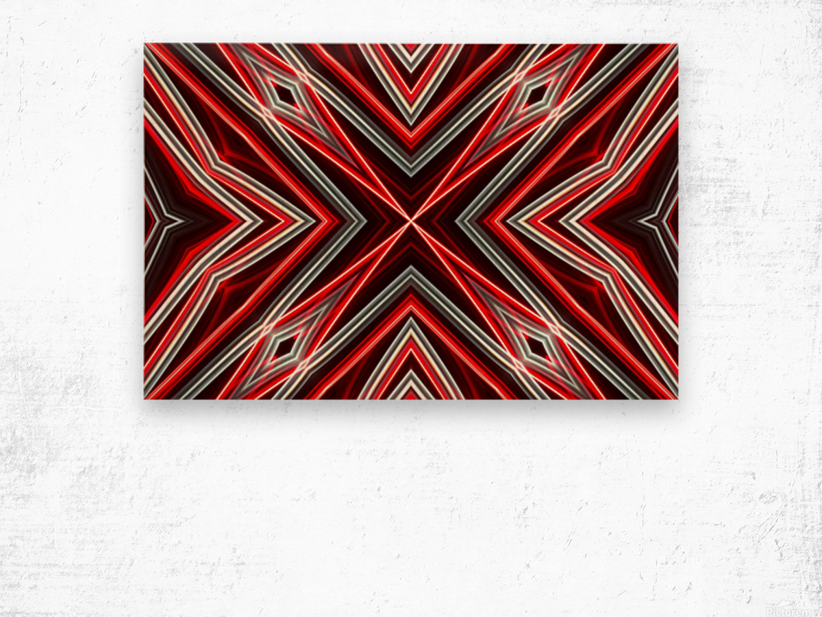 Red and Black Wood print
