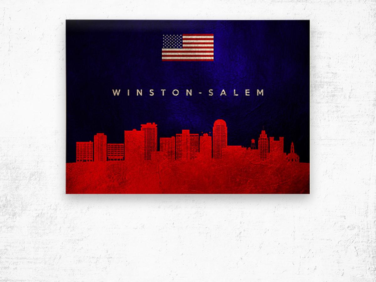 Winston Salem North Carolina Wood print