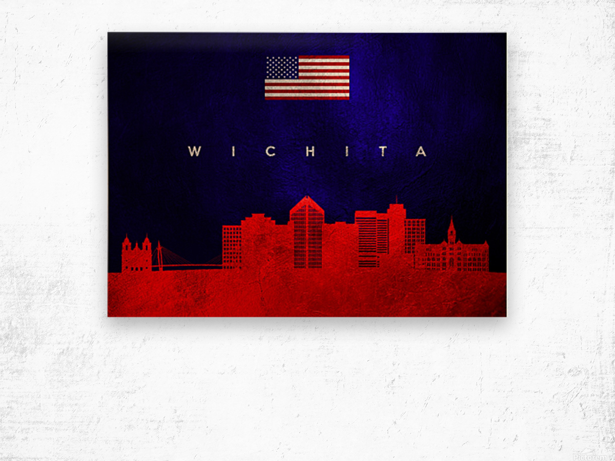 Wichita Kansas Wood print
