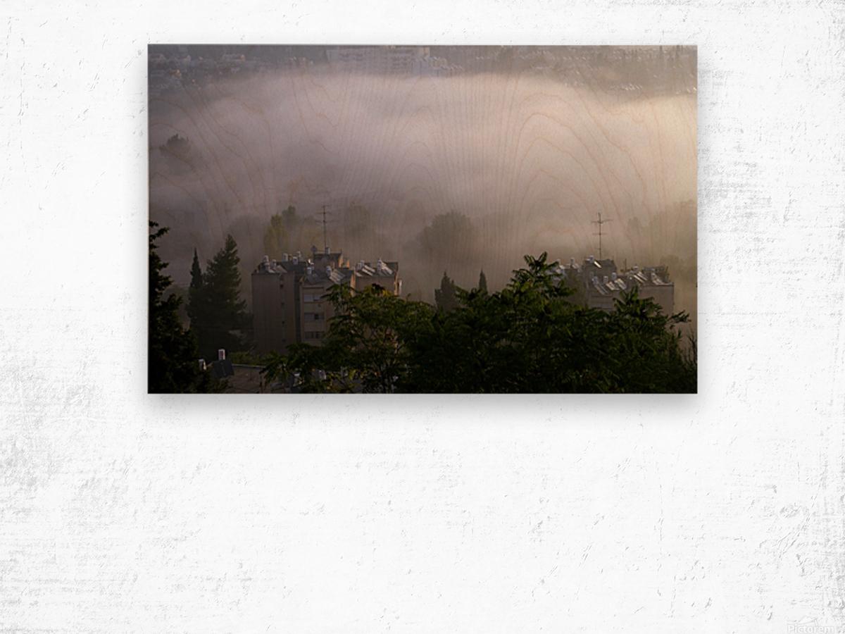 Foggy morning N2 Wood print