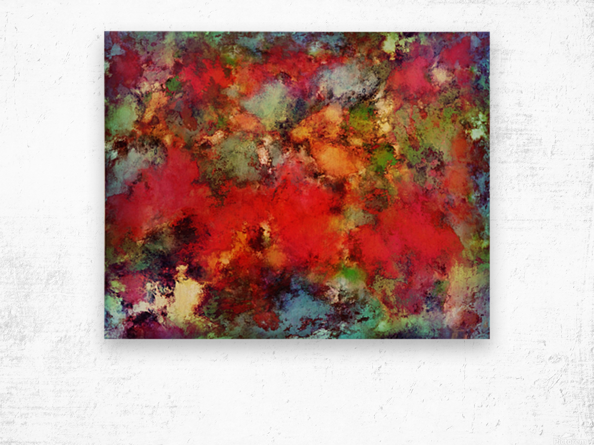 A red road Wood print