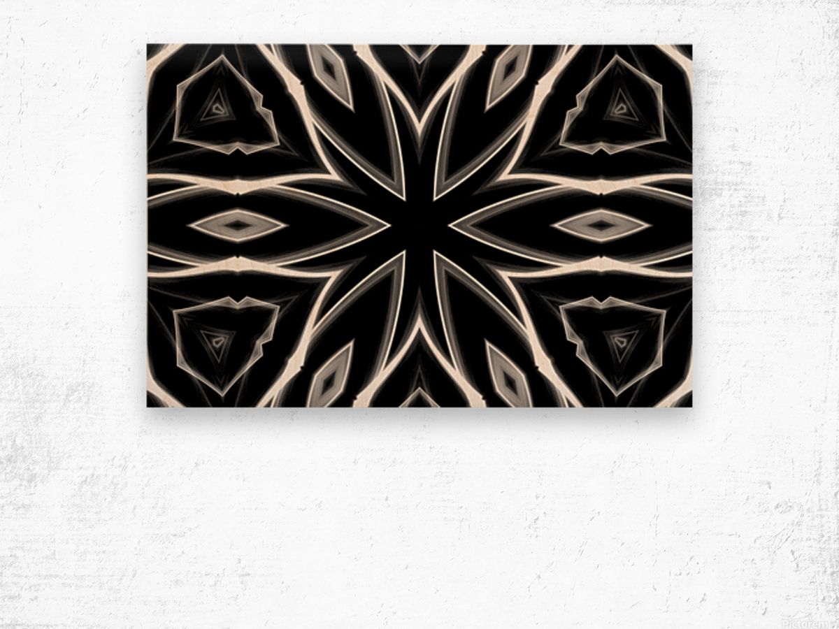 Monochrome Graffiti Wood print