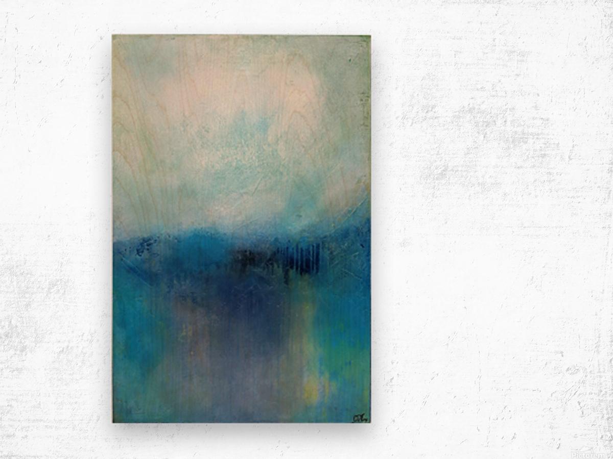 No Surrender Blue III Wood print