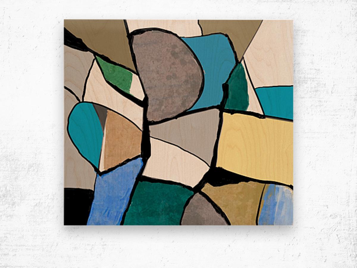 Meeting of Colors Wood print