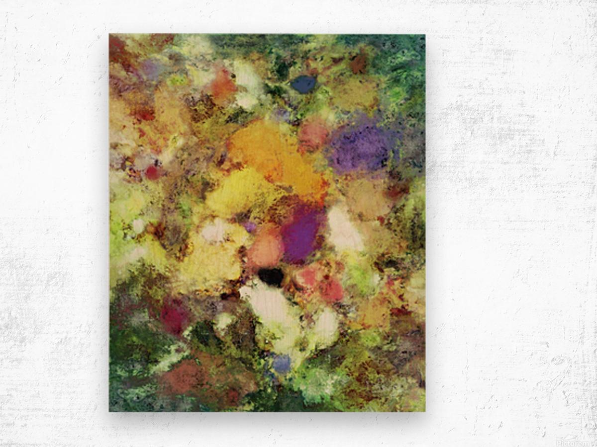 Forgotten petals Wood print