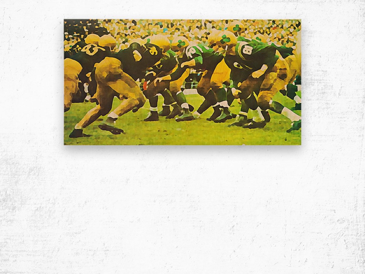 best notre dame football art Wood print