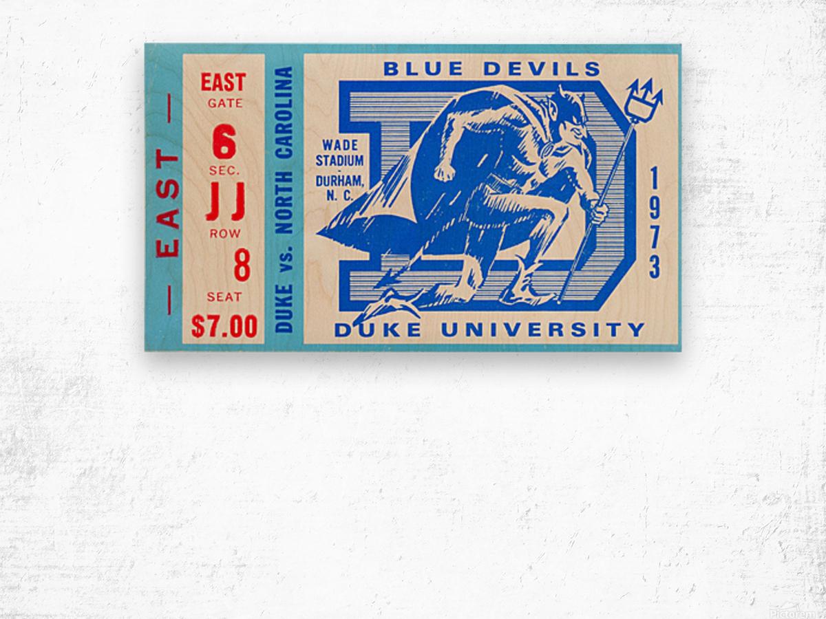 1973 Duke vs. North Carolina Wood print