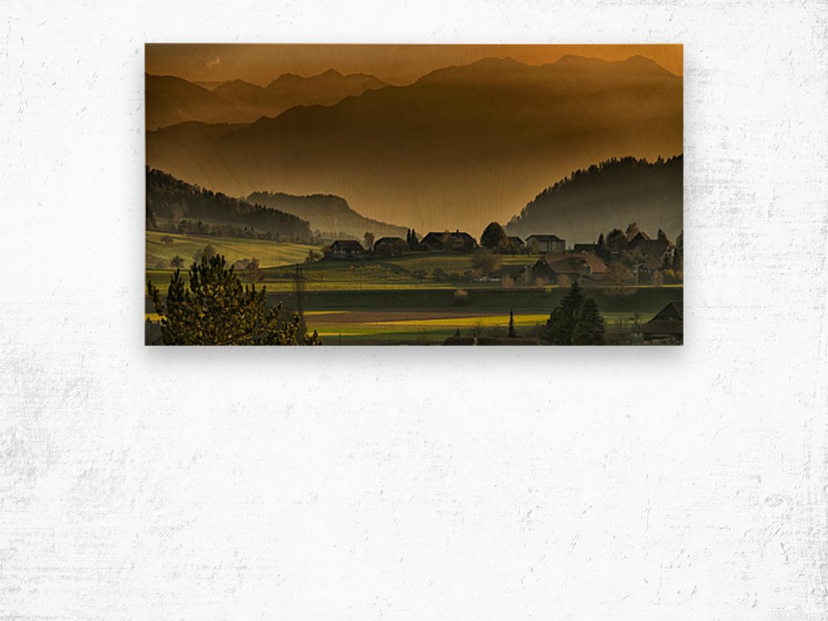 landscape autumn twilight mountains_1588527933.2293 Wood print
