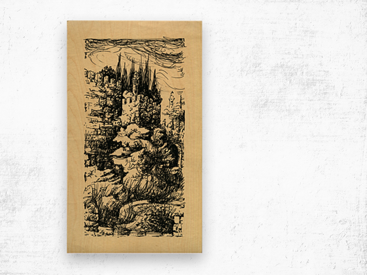 BNC1967-023 Wood print