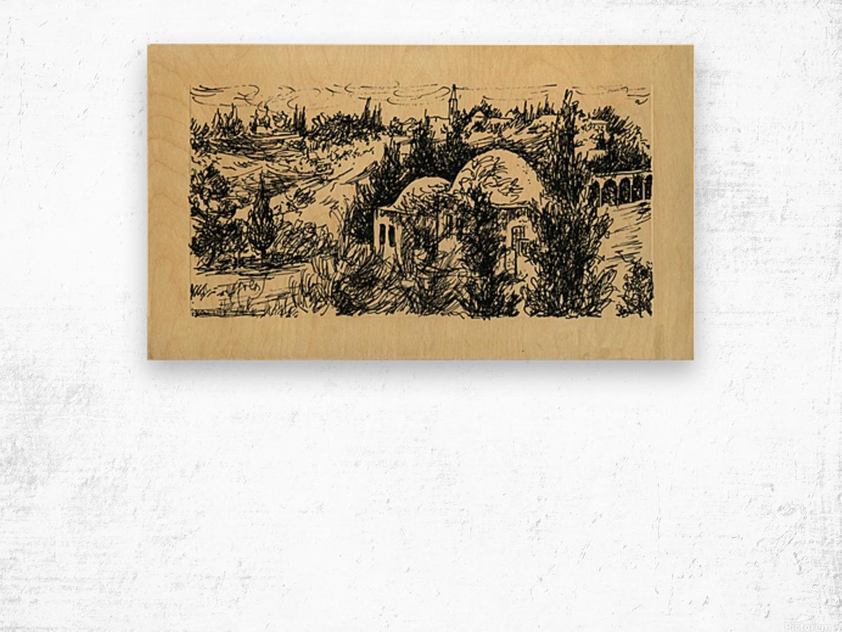 BNC1967-029 Impression sur bois