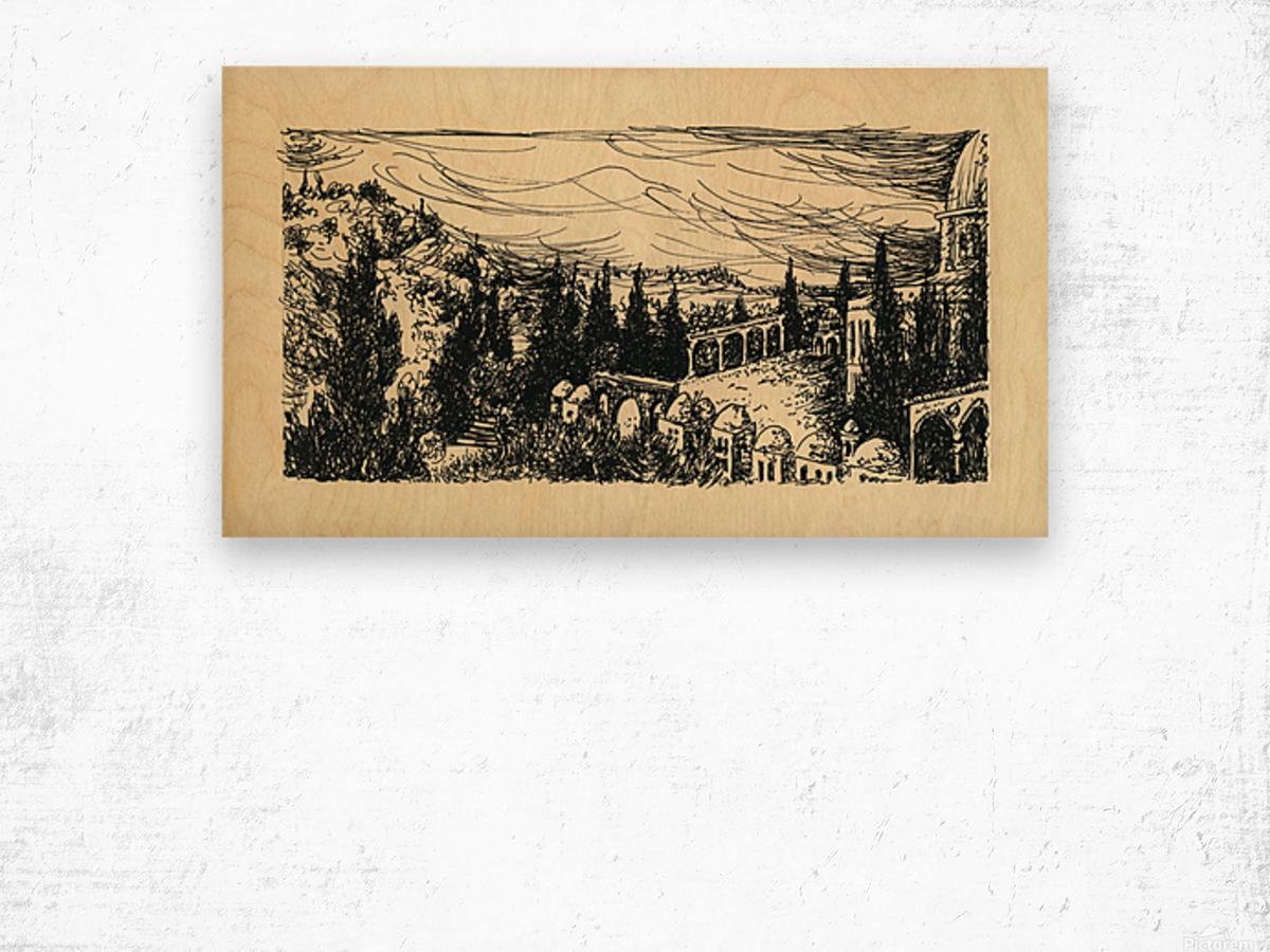 BNC1967-07 Impression sur bois