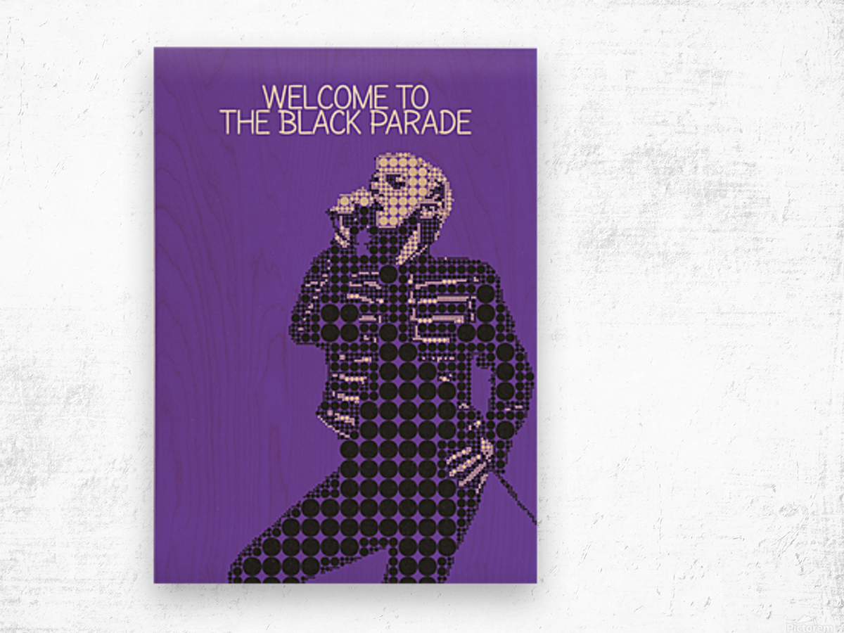 Welcome To The Black Parade   Gerard Way Wood print