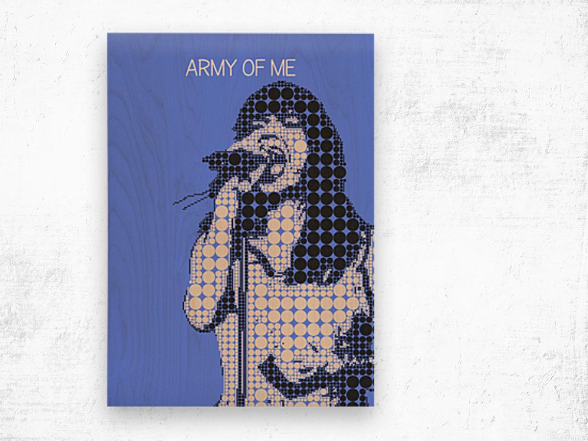 army of me   Bjork Wood print