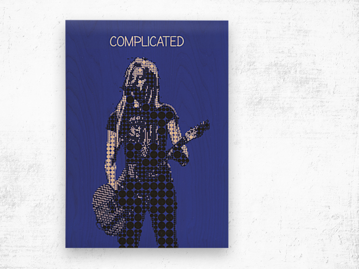 Complicated   Avril Lavigne Wood print
