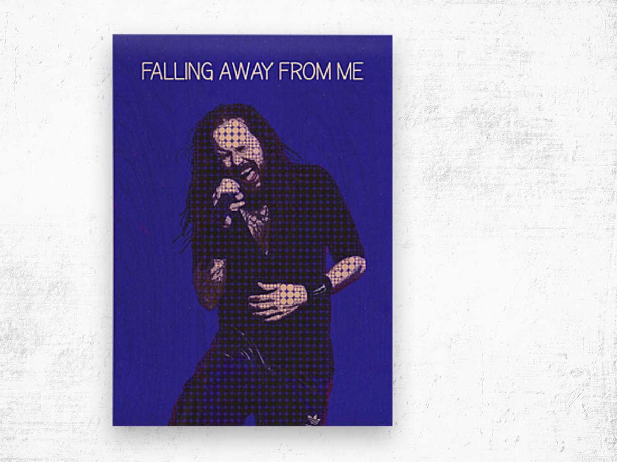 Falling Away from Me   Jonathan Davis   Korn Wood print