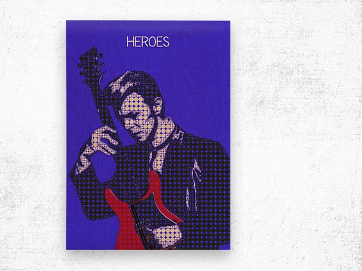 Heroes   David Bowie Wood print