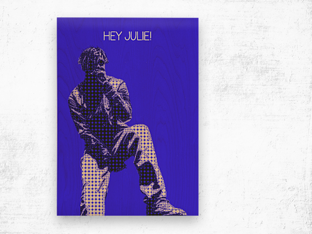 hey julie   Lil Yachty Wood print