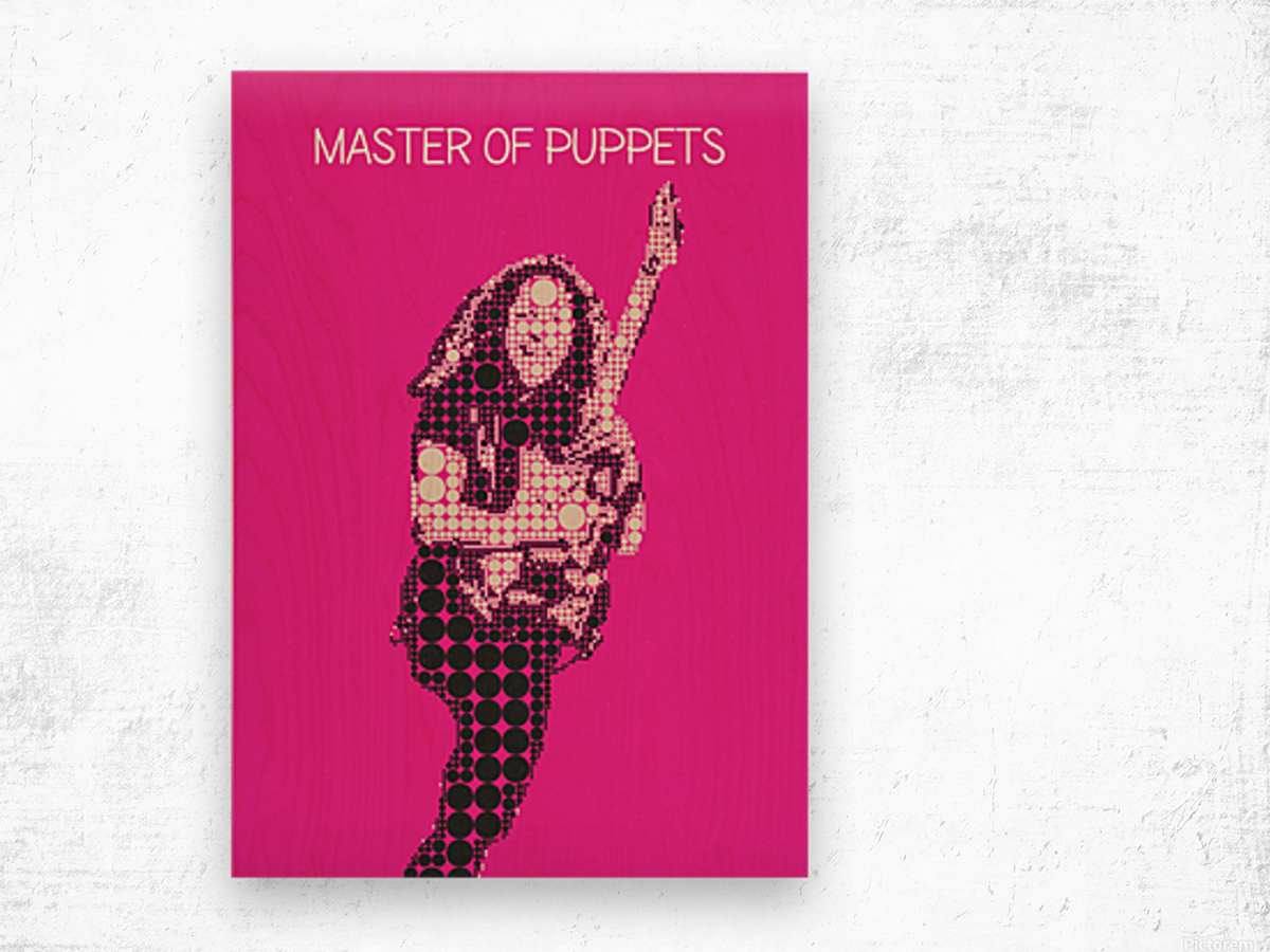 Master Of Puppets   Kirk Hammett Wood print