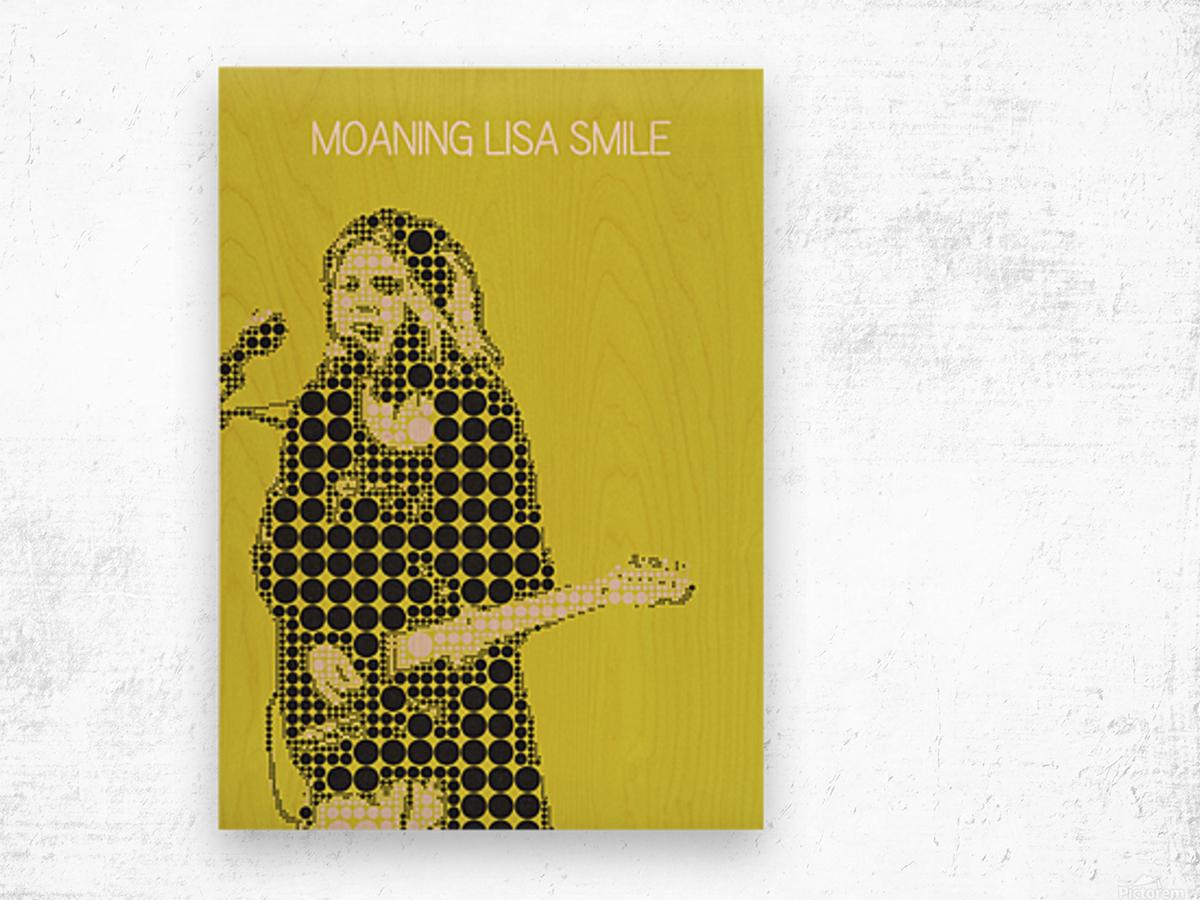 Moaning Lisa Smile   Wolf Alice Wood print