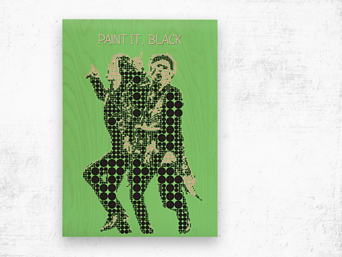Paint it Black   Mick Jagger and Keith Richards Wood print
