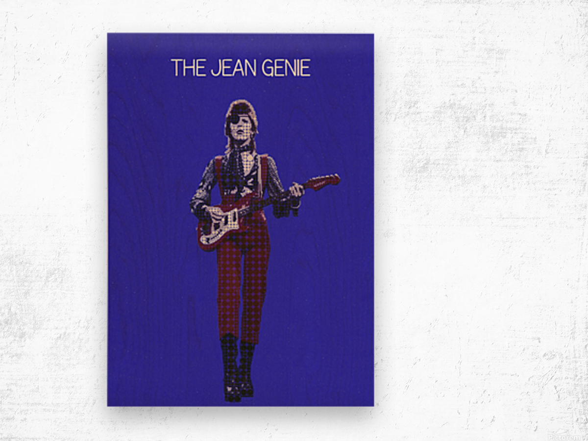 The Jean Genie   David Bowie Wood print