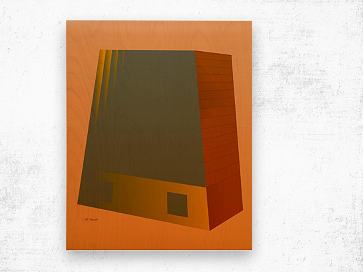 Office Building 2 VA Wood print