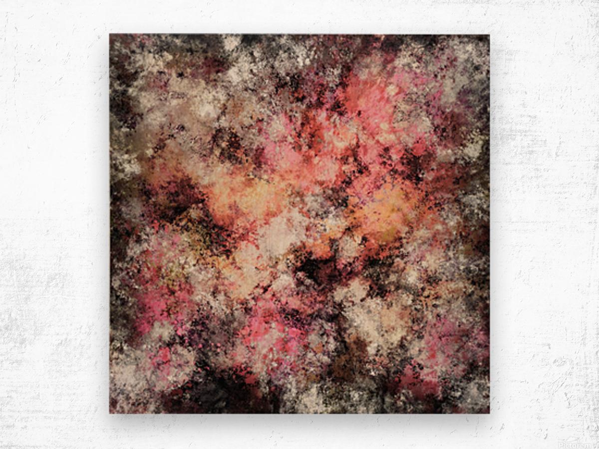 Pink stone Impression sur bois