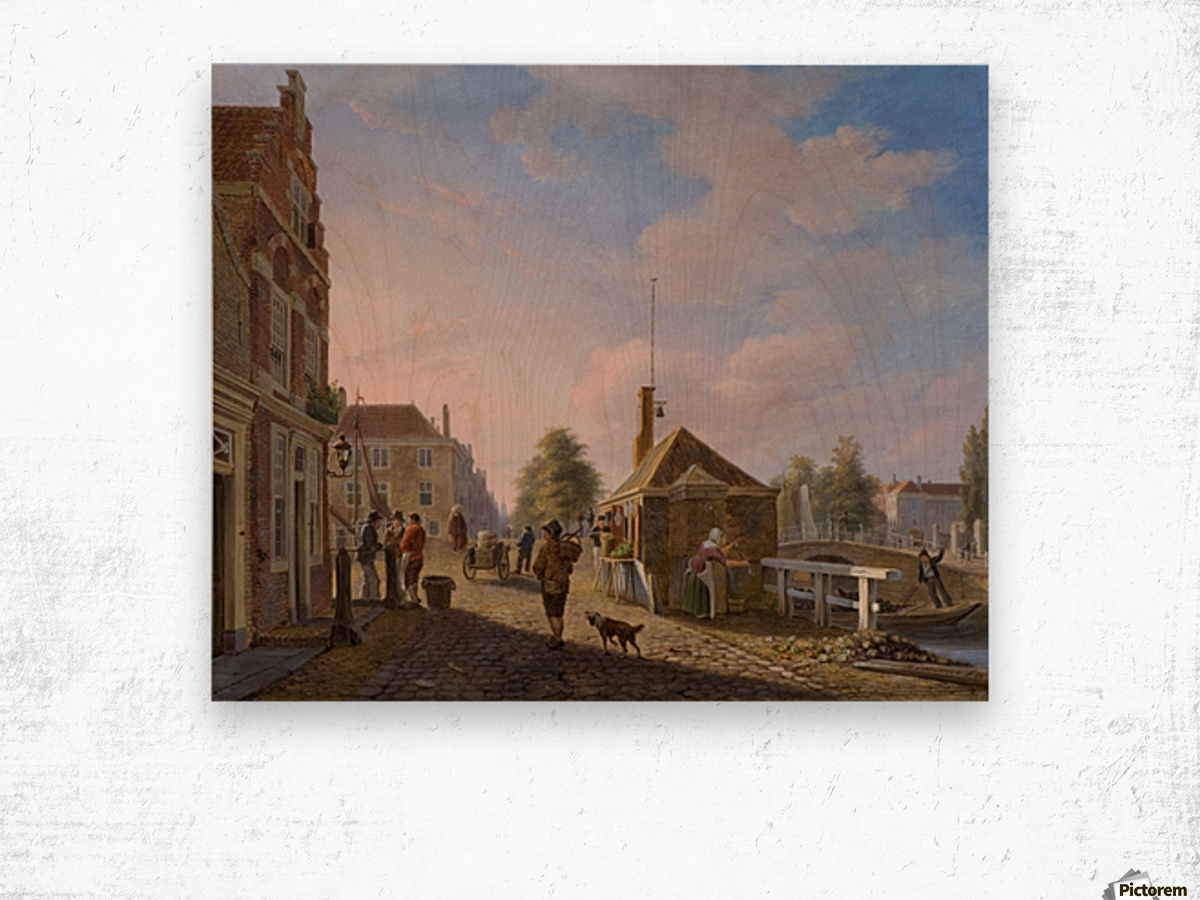 The Spui in The Hague Wood print
