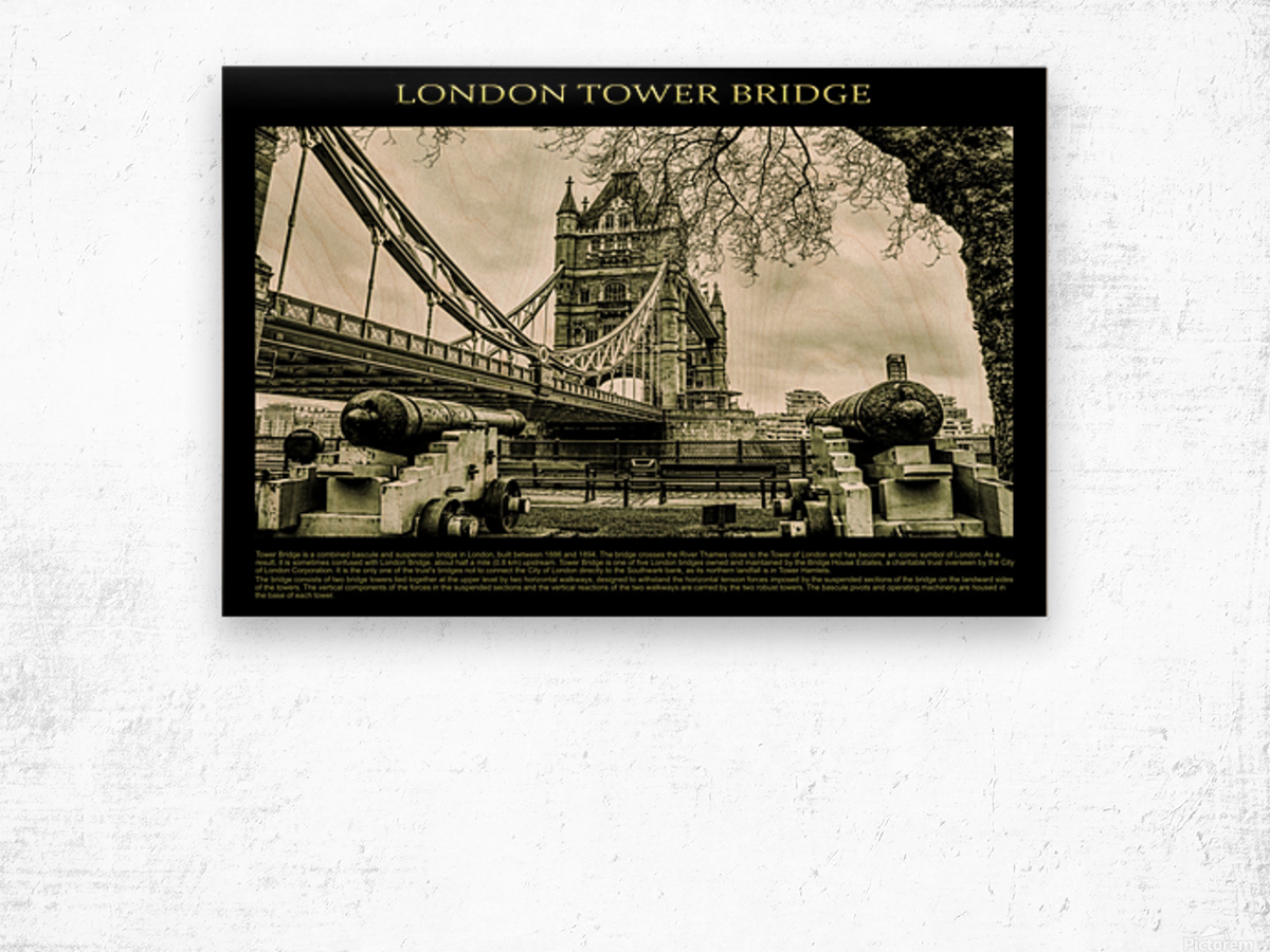 Vintage London Tower Bridge Wood print