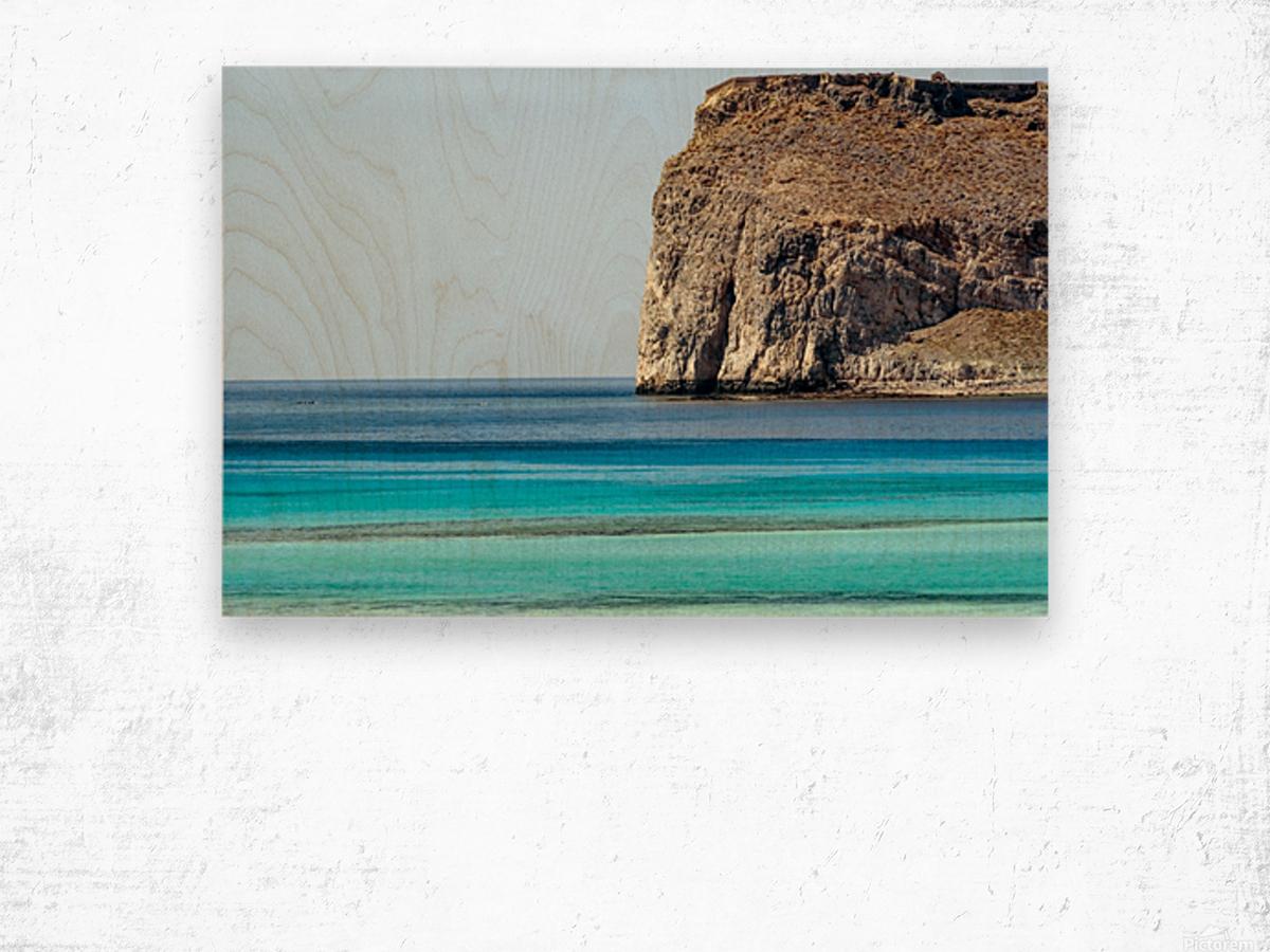 Blue tones Wood print