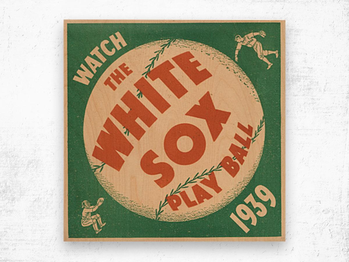 1939 Chicago White Sox Art Wood print