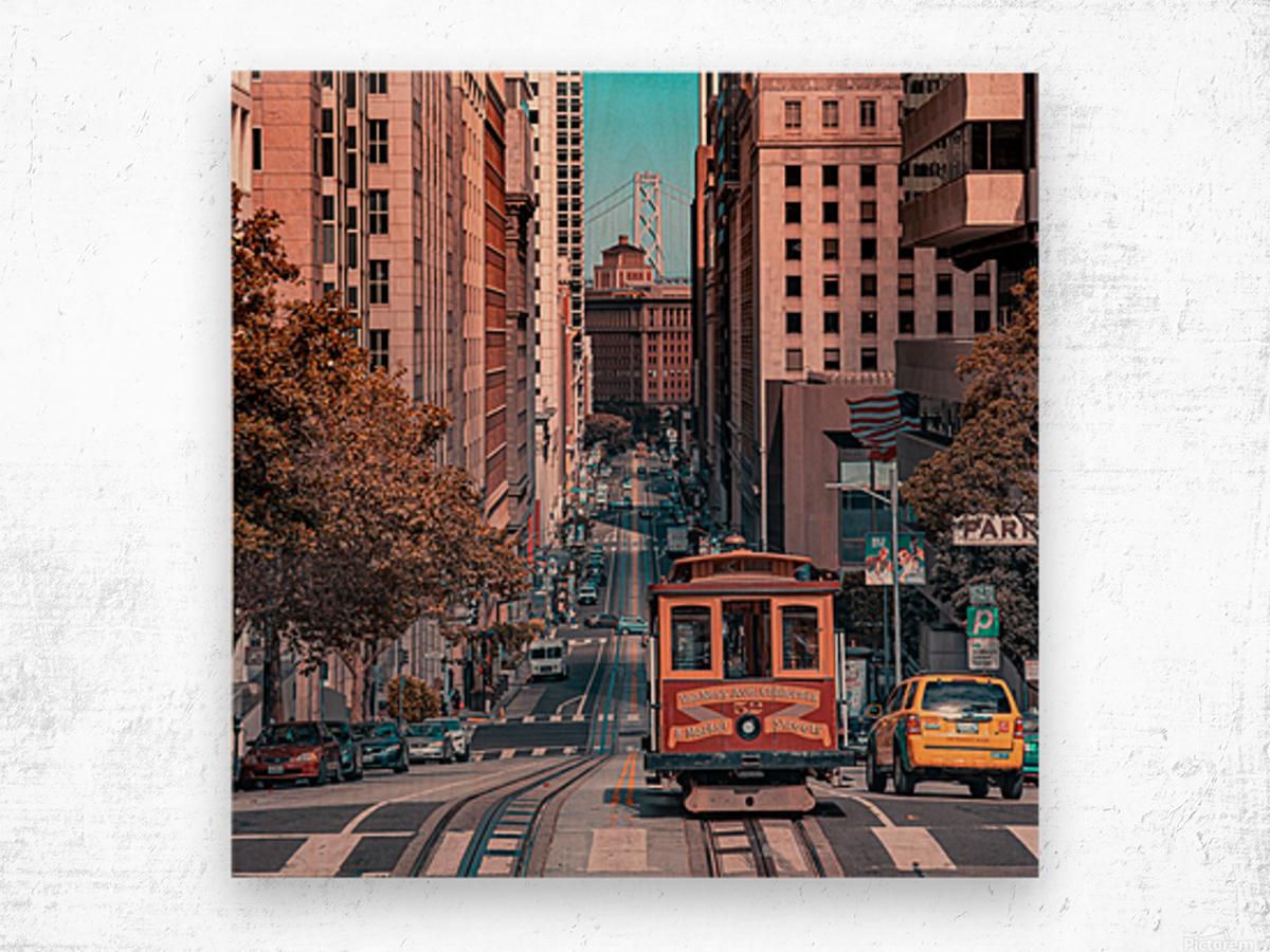 San Francisco City Scene Wood print