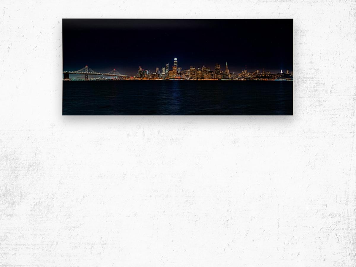 San Francisco City Skyline Panorama Wood print