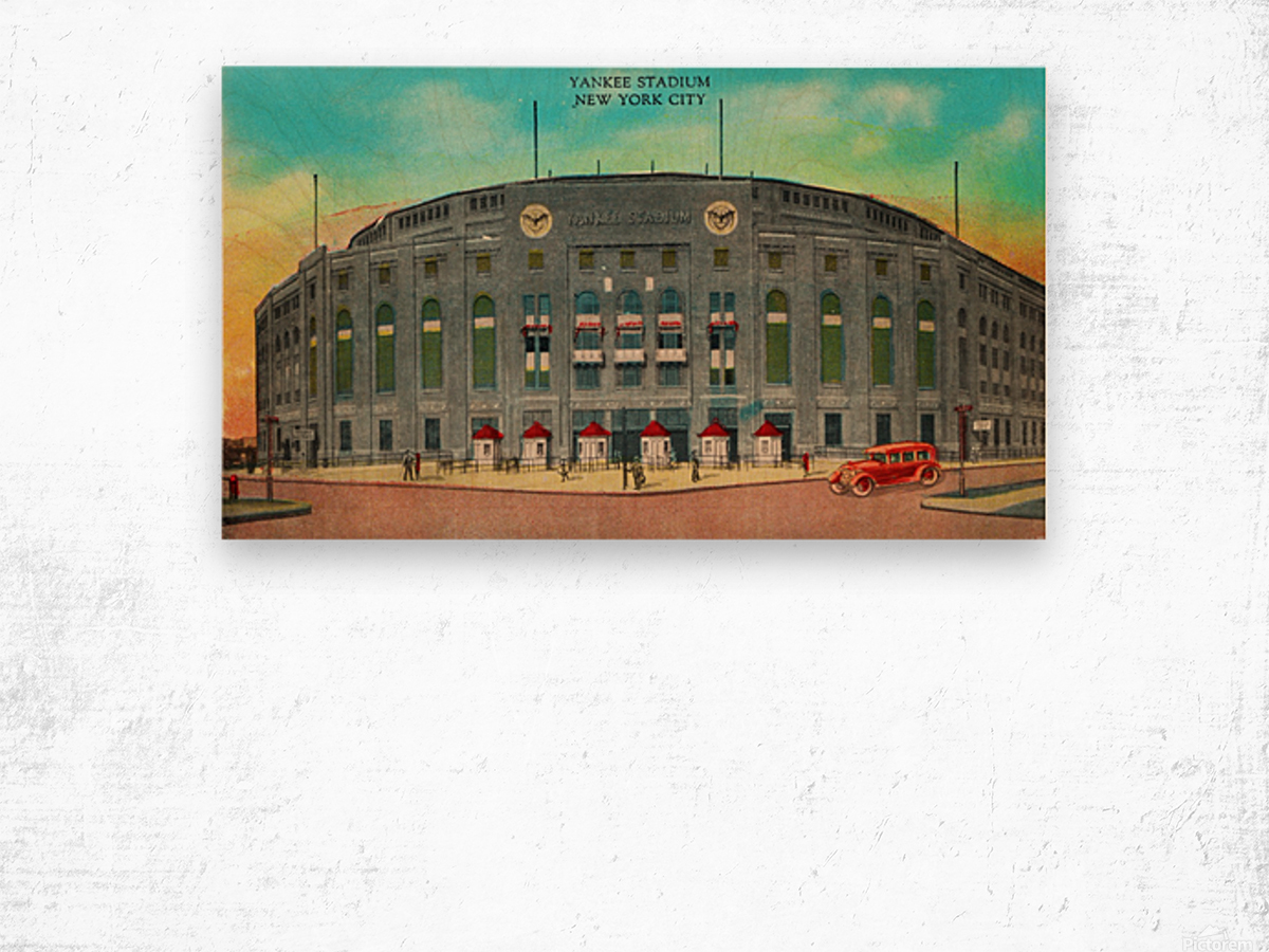 1935 Vintage New York Yankees Stadium Art Wood print