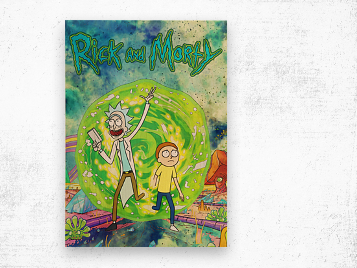 Rick and morty_  Wood print