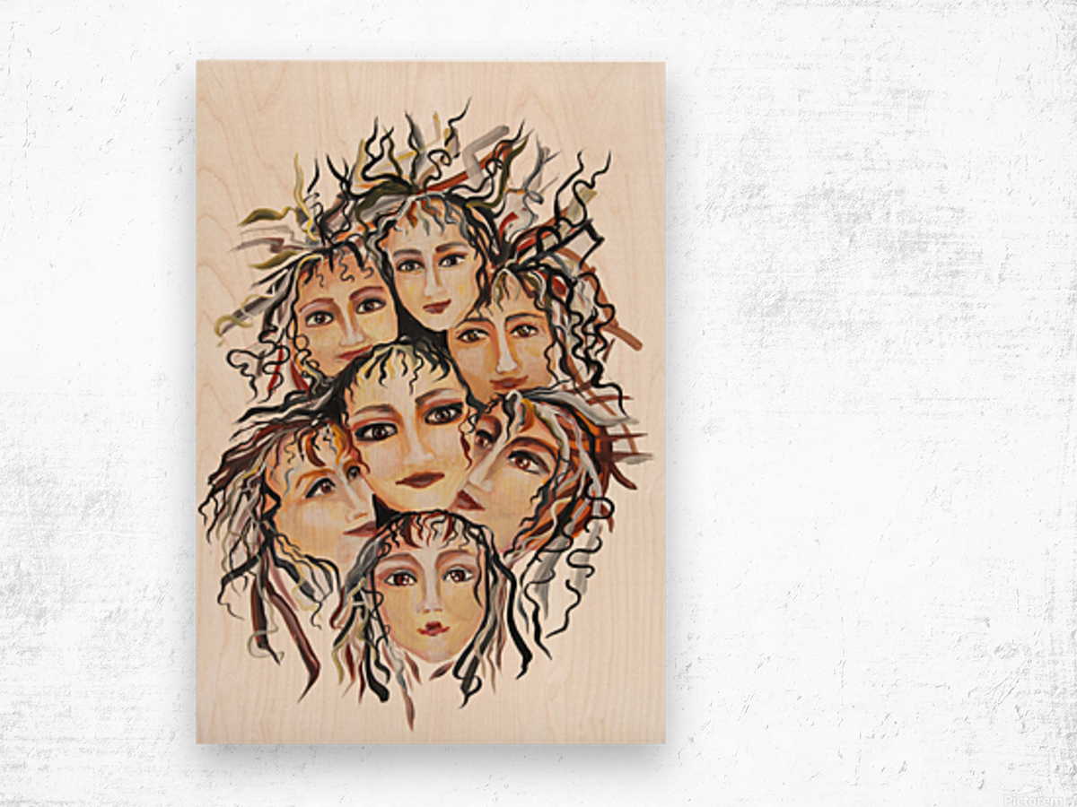 Pop Surrealism Energy Wood print