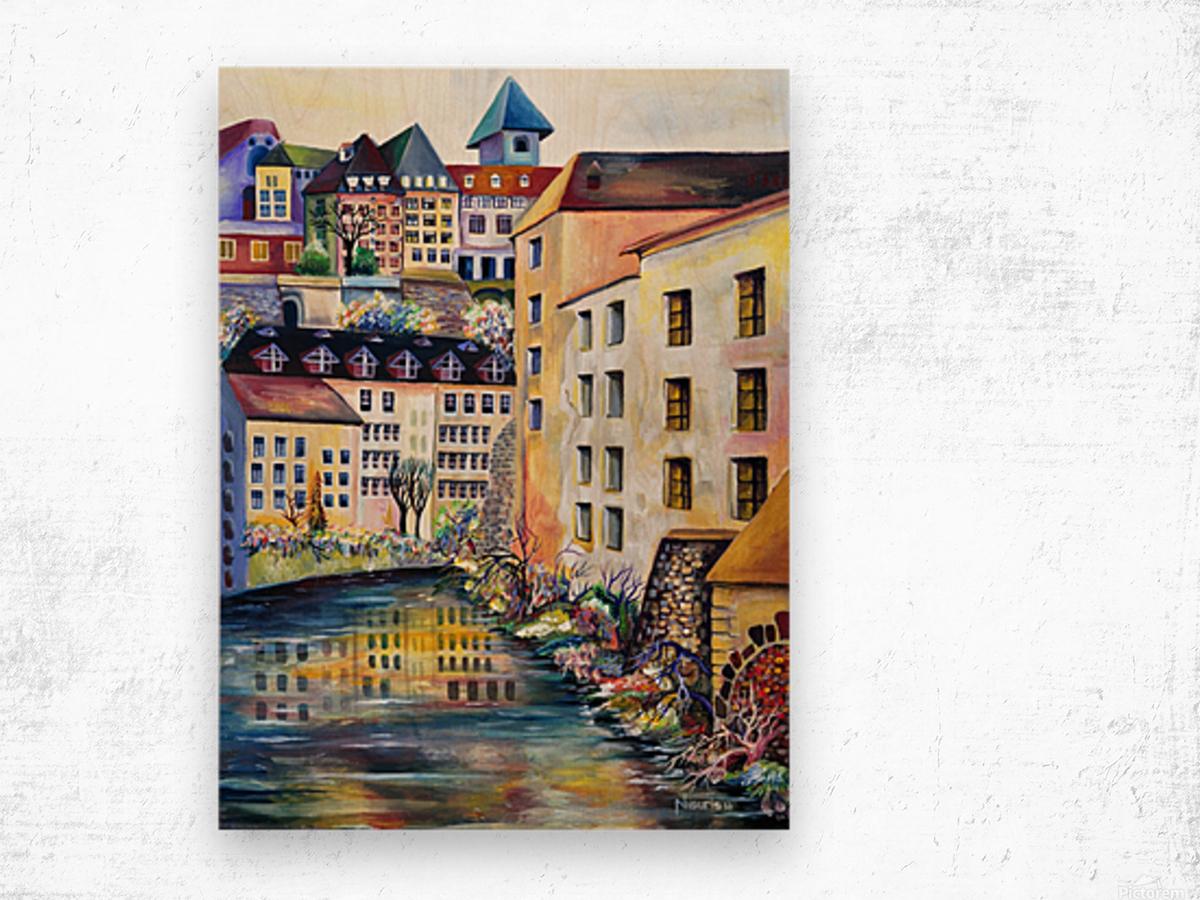 Sweden Stockholm Gamla Stan Watercolor Wood print