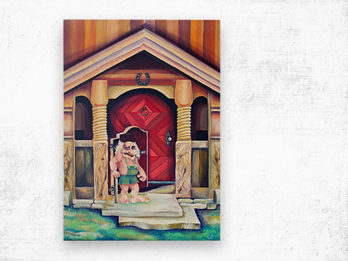 Scandinavian Folklore Troll Artwork  Wood print