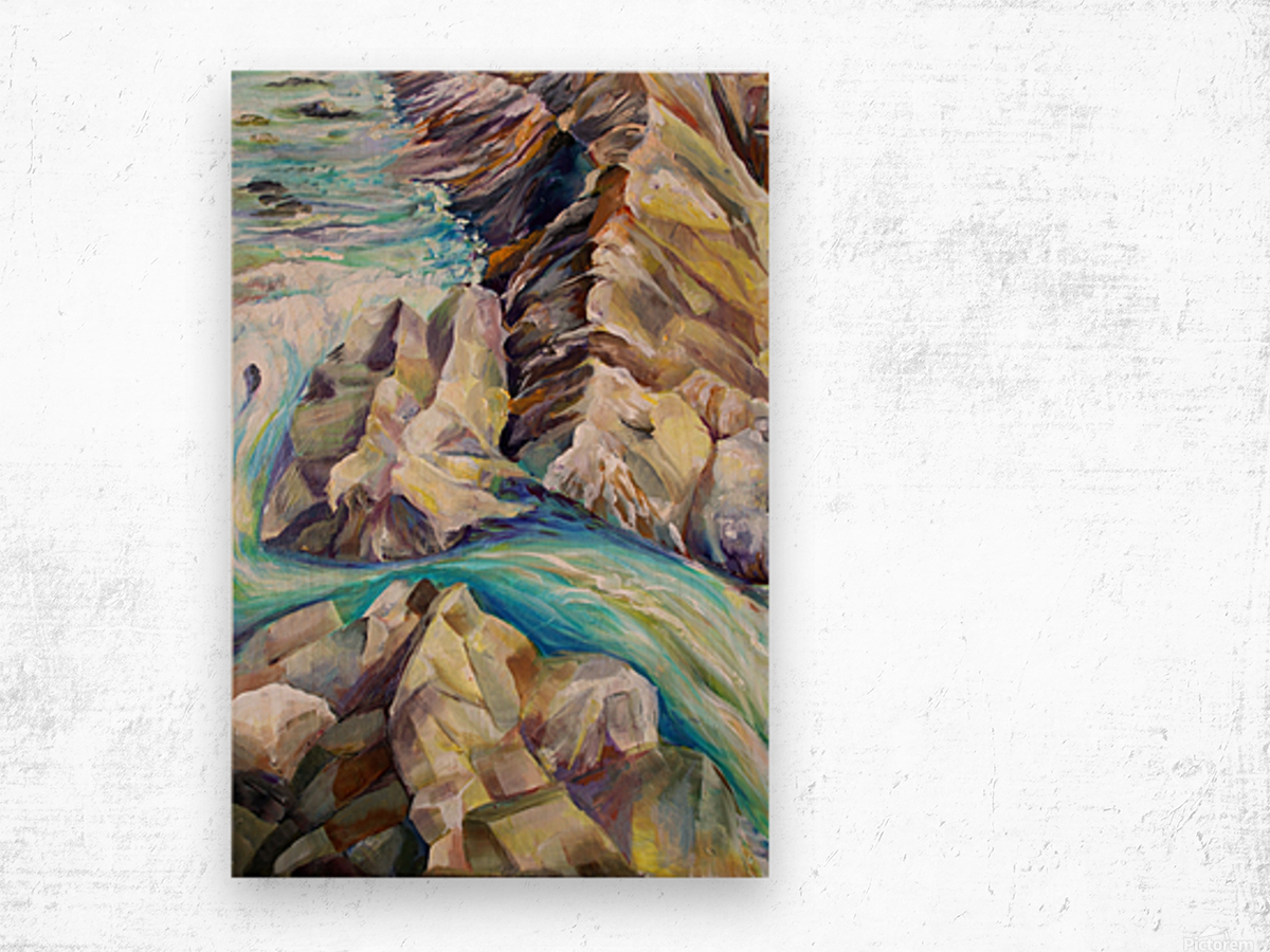 Rocky Mountains Crystel River Colorado Wood print