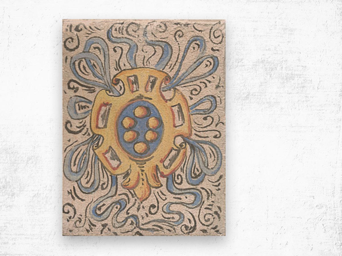 Florentia_ Crest - fresco Wood print