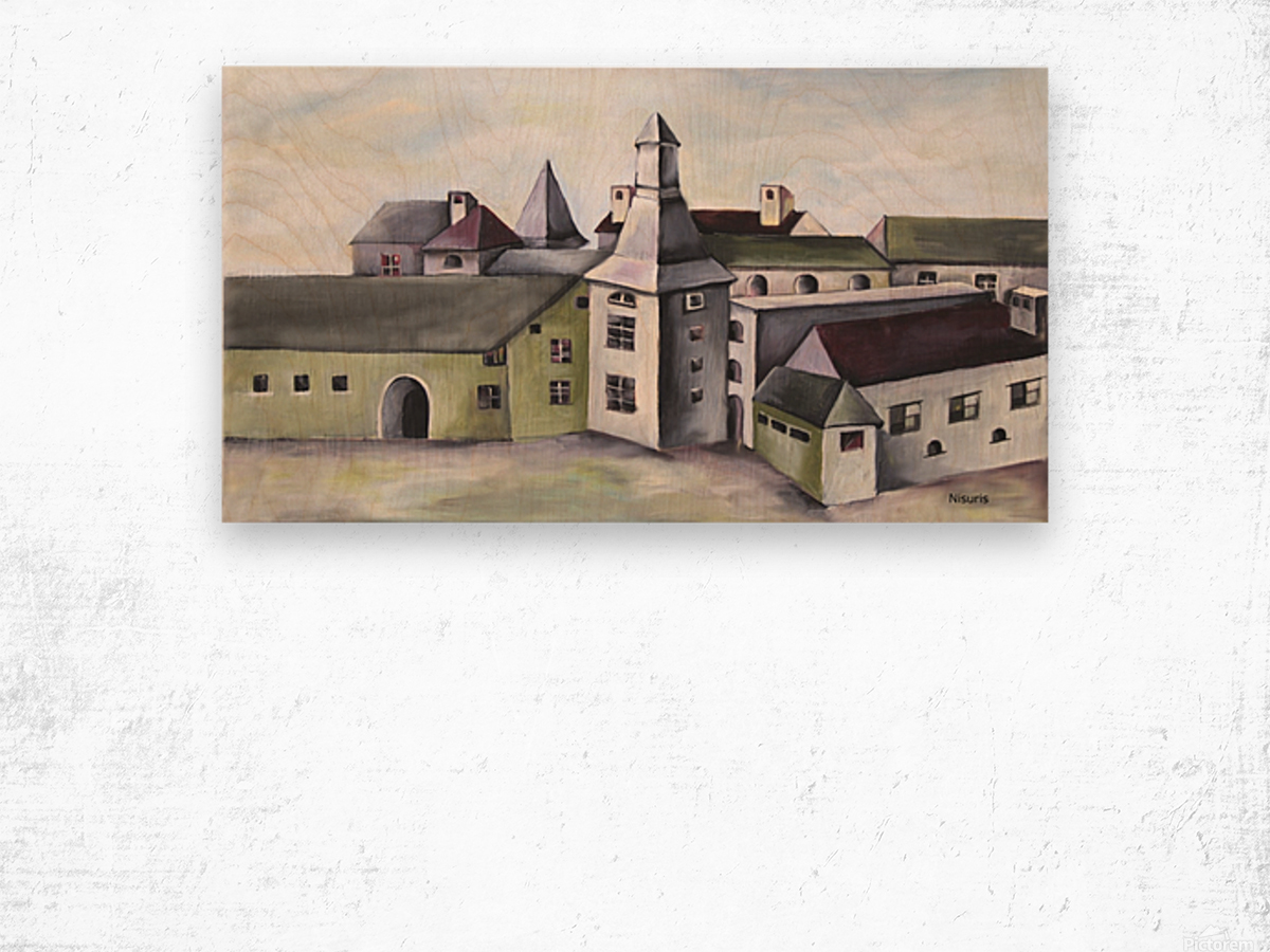 French Provenance Countryside Wood print