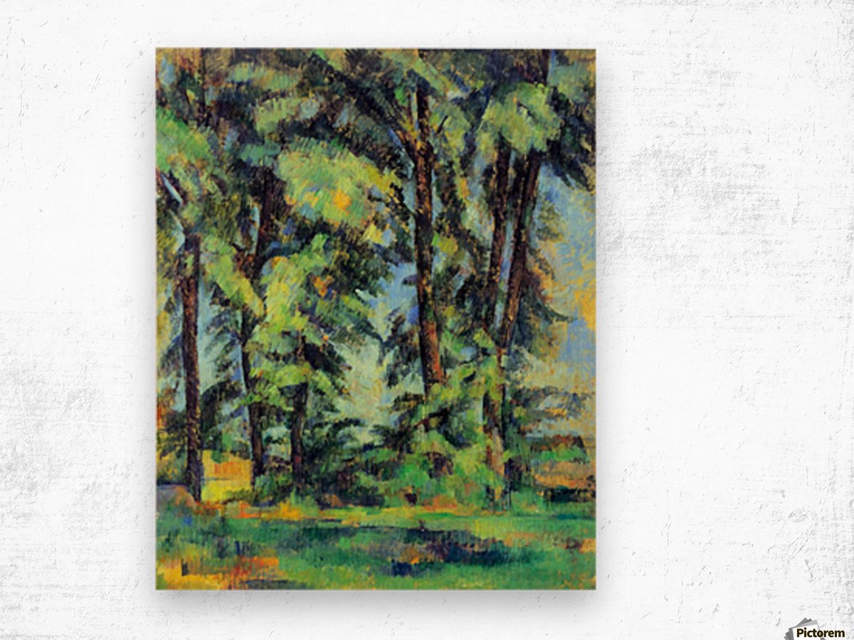 High trees in the Jas de Bouffan by Cezanne Wood print