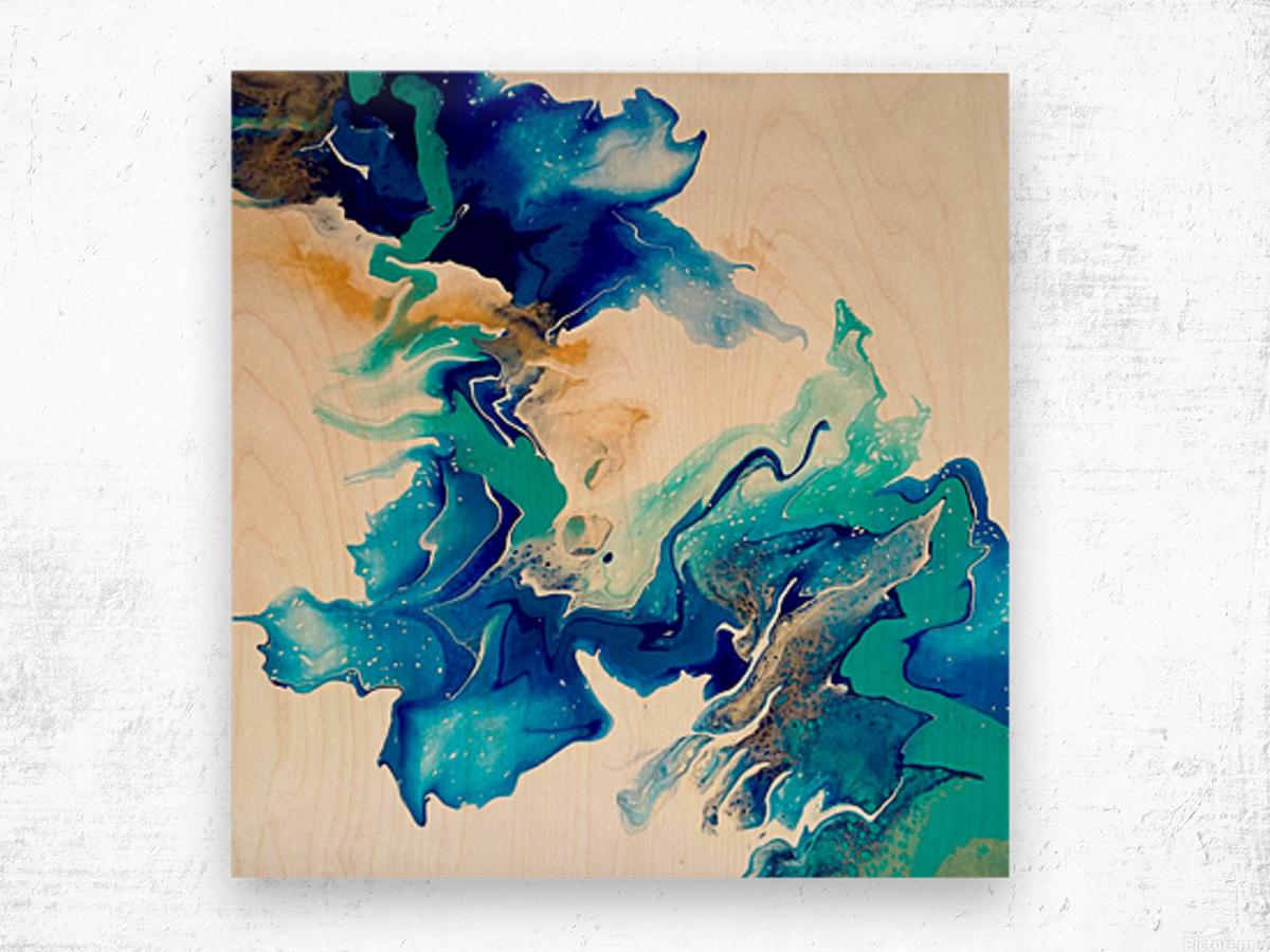 Ocean_Blue_II Wood print